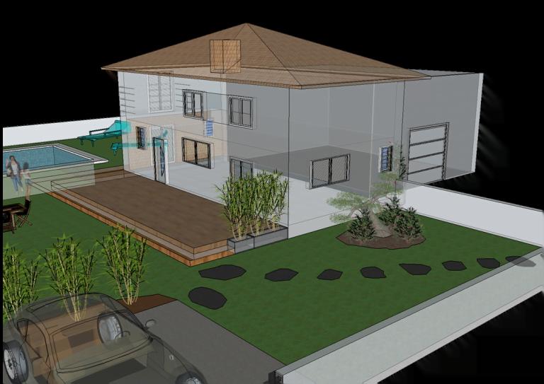 3D Villa avec local