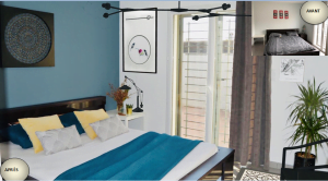 Home staging chambre à coucher